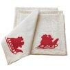 Xia Home Fashions Santa Crewel Embroidery Holiday Napkin (Set of 4)