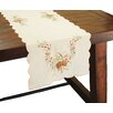 Xia Home Fashions Classic Pine Cone Embroidered Table Runner
