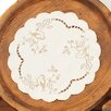 Xia Home Fashions Woodland Embroidered Cutwork Round Doily (Set of 4)