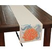 Xia Home Fashions Costal Applique Sea life and Coral Table Runner