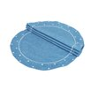 Xia Home Fashions Polka Dot Embroidered Easy Care Placemat (Set of 4)