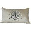 Xia Home Fashions Bejeweled Snowflake Lumbar Pillow