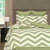 Home Fashions International Palmetto Print Works Chevron 8 Piece Comforter Set