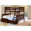 Donco Kids Donco Kids Twin Over Full Mission Bunk Bed with Tilt Ladder and Storage Drawers