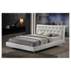 Wholesale Interiors Baxton Studio Panchal Upholstered Modern Panel Bed