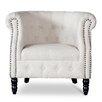 Wholesale Interiors Baxton Studio Neo Classics Chesterfield Barrel Chair