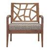 Wholesale Interiors Baxton Studio Jennifer Twill Arm Chair