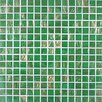 """Giorbello Gold Leaf 0.75"""" x 0.75"""" Glass Mosaic Tile in Classic Green"""