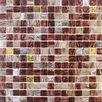 """Giorbello Golden Blends 0.75"""" x 0.75"""" Glass Mosaic Tile in Mahogany Bullion"""
