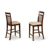 "East West Furniture East West 24"" Bar Stool with Cushion (Set of 2)"