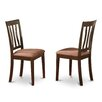 Wooden Importers Antique Side Chair with Cushioned Seat (Set of 2)