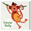 """Oliver Gal """"Monkey Exercise"""" by Olivia's Easel Canvas Art"""