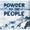 "Oliver Gal LAB Creative ""Powder to the People"" Graphic Art on Wrapped Canvas"