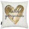Oliver Gal Gorgeous Salute White Throw Pillow