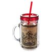 Cypress Home Elegant Farmhouse 20 oz. Double Walled Mason Jar Insulated Cup with Straw