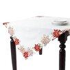Saro Poinsettia Dining Linens Collection