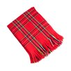 Saro Classic Red Plaid Design Throw Blanket