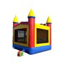 JumpOrange Commercial Grade Rainbow Inflatable Bounce House with Bricks and 4 Pillars