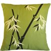 Sustainable Threads Bamboo Wilderness on Moss Cotton Throw Pillow