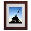 "Trademark Fine Art ""Iwo Jima Memorial"" by Gregory O'Hanlon Matted Framed Photographic Print"