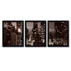 Trademark Fine Art NYC After Dark by Ariane Moshayedi 3 Piece Framed Photographic Print Set