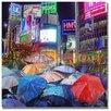 Trademark Fine Art 'Rainy Night in Tokyo' Painting Print on Canvas