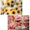 Entrada Flower 4 Piece Oil Painting Set