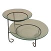 Entrada 2 Tier Round Serving Tray Tiered Stand