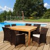 International Home Miami Amazonia Teak Dining Table