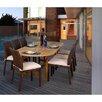 International Home Miami Amazonia Alexandria 9 Piece Teak & Wicker Dining Set