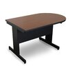 "Marvel Office Furniture Vizion 48"" x 30"" Peninsula Classroom Table"