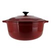 Chasseur Chasseur 7.1-quart Red French Enameled Cast Iron Round Dutch Oven