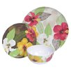 Island Way Melamine Hibiscus 3 Piece Place Setting