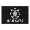 FANMATS NFL Oakland Raiders Man Cave Starter Area Rug