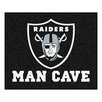 FANMATS NFL Oakland Raiders Man Cave Outdoor Area Rug