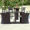 Matrix Boynton 3 Piece Outdoor Dining Set with Cushions