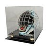 Caseworks International NHL Goalie Mask Display Case with Gold Risers