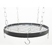 Rogar Gourmet Round Hanging Pot Rack with Grid