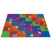 KidCarpet.com All in a Row Letter Kids Rug