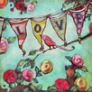 GreenBox Art Love Bird Pennant by Angela Donato Painting Print on Wrapped Canvas