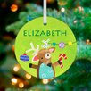 GreenBox Art Christmas Time Reindeer Of Cheer Personalized Ornament by Jill McDonald