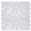 The Bella Collection Mini Mix Shiny and Satin Moasic Tile in Snow