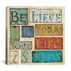 """iCanvas """"Believe and Hope"""" Canvas Wall Art by Daphne Brissonnet"""