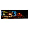 iCanvas Panoramic Buildings at the Roadside, Ocean Drive, South Beach, Miami Beach, Florida Photographic Print on Canvas