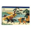 iCanvas 'Barrier Town on the Sumida River' Painting Print on Canvas by Katsushika Hokusai