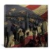 iCanvas Chrysler Building - Manhattan, New York City, American Flag Graphic Art on Canvas
