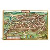 iCanvas Antique Maps of Vilnius, Lithuania (Braun and Hogenberg, 1599) Graphic Art on Canvas