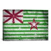 iCanvas Austin, Texas Flag - Grunge Painted Cracks Graphic Art on Canvas