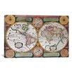 iCanvas Antique Map Terre Universelle, 1594 Graphic Art on Canvas