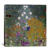iCanvas 'Bauerngarten (Flower Garden)' by Gustav Klimt Painting Print on Canvas